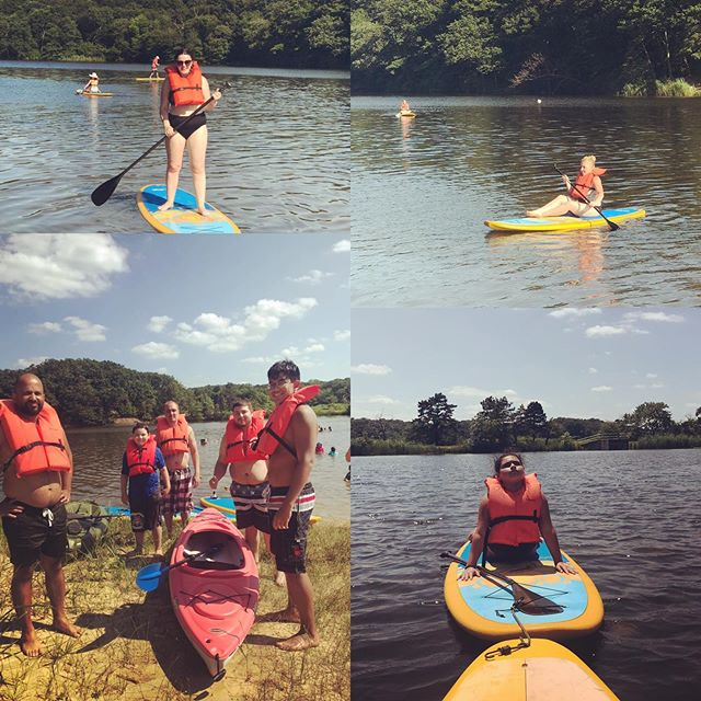 Missed out on our epic Saturday of paddling and sup yogaing fun? Join us today! 10 am SUP Yoga in Red Bank 12 pm - 6 pm SUP and Kayak rentals and lessons in Cheesequake  Register online or call 732-823-9642 #summervibes #summertime #fun #nature #family #goodtimes #standuppaddle #supyoga