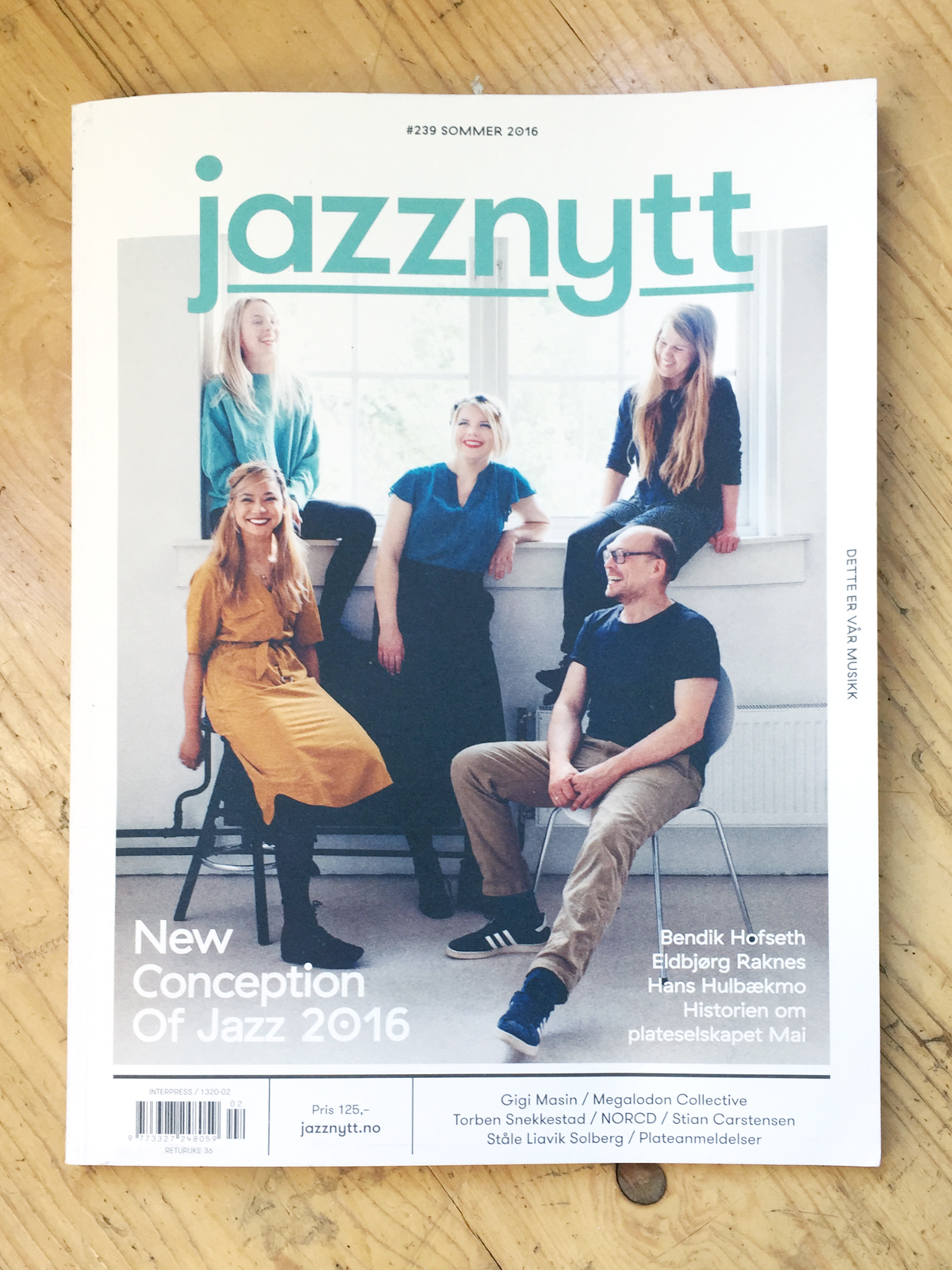 Cover of Jazznytt#239 with Bugge Wesseltoft's New Conception Of Jazz!