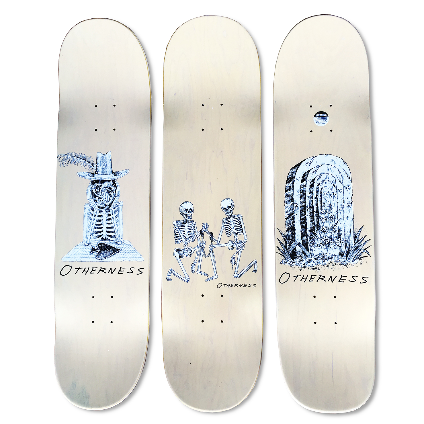 Just finished up a fun little project - I put together the graphics for Thom Hornung & Mat O'Brien's new board company called  Otherness . Pro models include Marc Johnson, Barker Barrett, and Shannon May.  Illustrations by Derek Snodgrass.