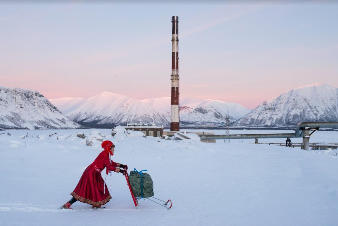 Marja Helander,  Dolastallat (To have a campfire) , 2016. Video still. Video, colour, sound, 5 min. 48 sec.