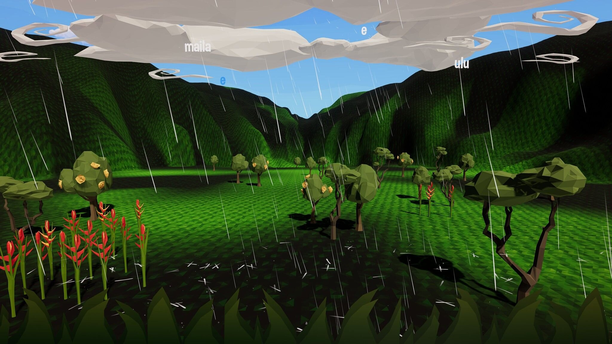"""Wao Kanaka - Ka Lei Milika'a Collectivehttp://skins.abtec.org/skins6.0/documentation/Wao Kanaka (""""the realm of humans"""") is a Hawaiian-language, first-person, exploration and puzzle game featuring Kānaka Maoli (Hawaiian) characters and traditions. The player explores different Hawaiian ecosystems to understand and uphold the concept of aloha 'aina (""""love of the land"""")."""