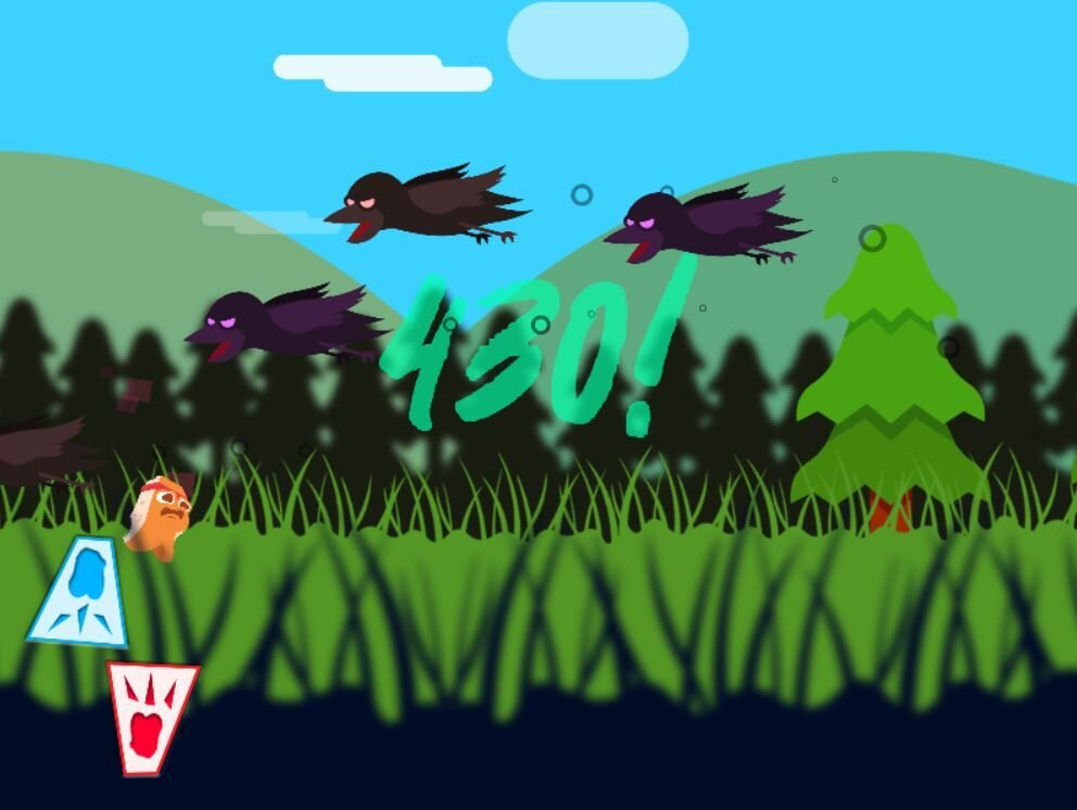 Waskwetin Pahkwesihkan (Bannock Bounce) - Artists: Dallas Flett-Wapash (Swampy Cree - Keeseekoose First Nations)Canada   2019   Web GameAll AgesPlay as BB the bouncing bannock and dodge hungry crows as long as you can!Dallas Flett-Wapash is a First Nations Swampy Cree Game Designer currently residing in Brandon, Manitoba focusing on video game production & development. He is currently attending Brandon University to achieve his Bachelor of Fine Arts.
