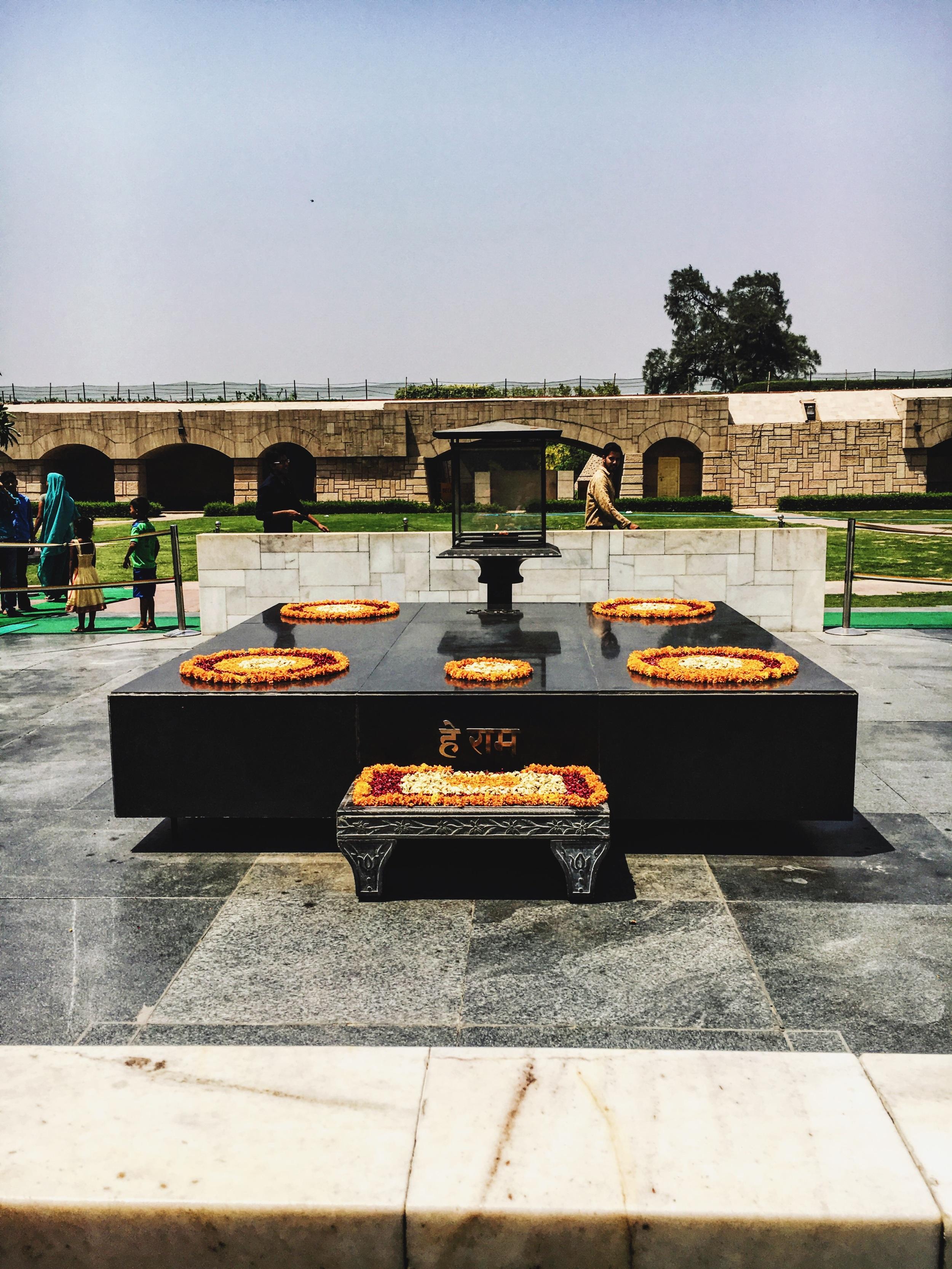 Ghandi's grave