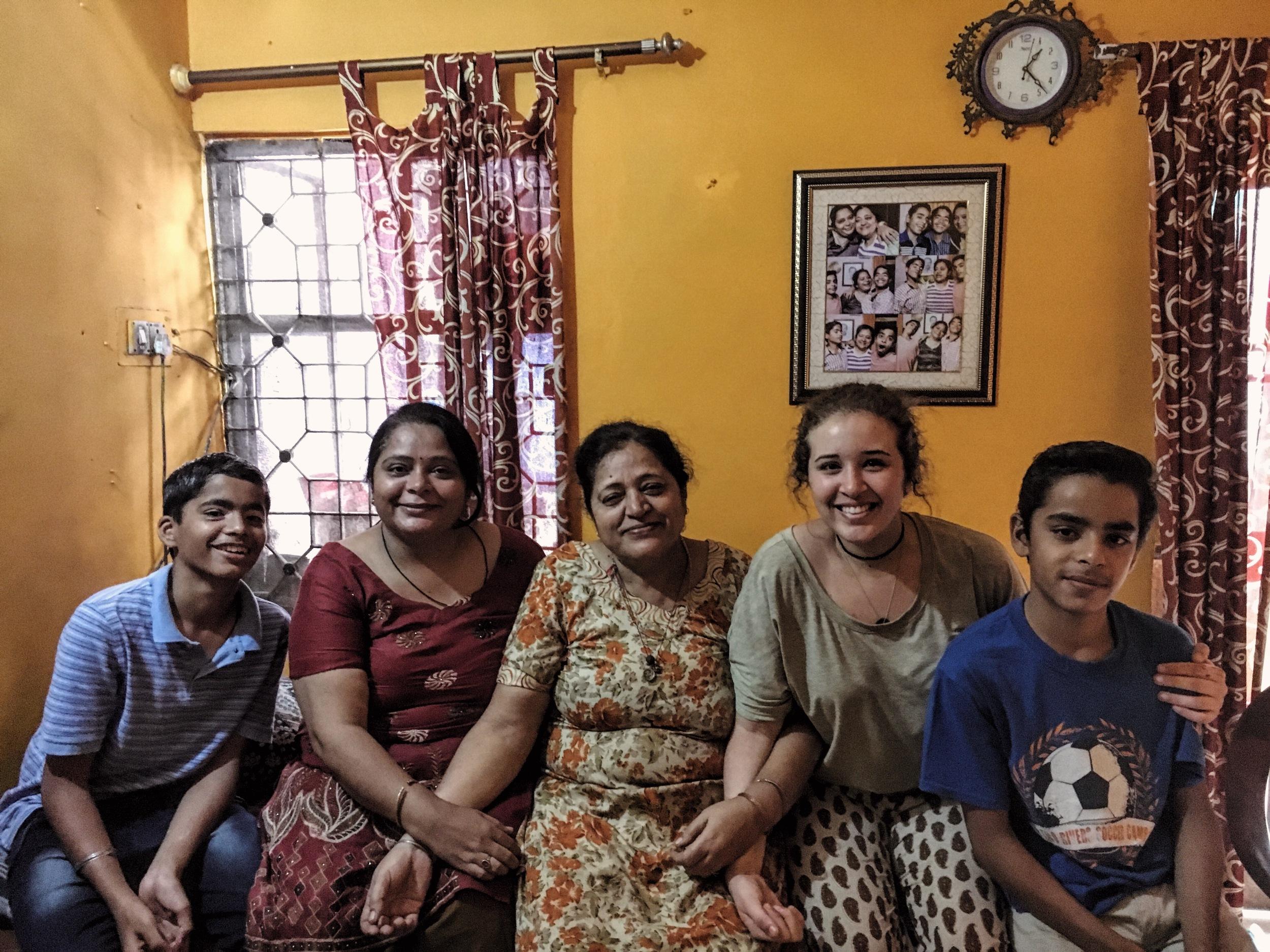 Vansh, Mamta, Nani, me, and Varun... oh, how i love them!