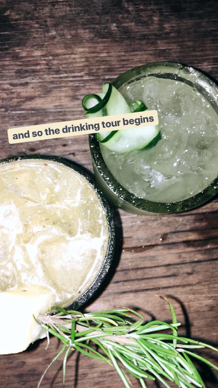 Cusha drinks from San Simon