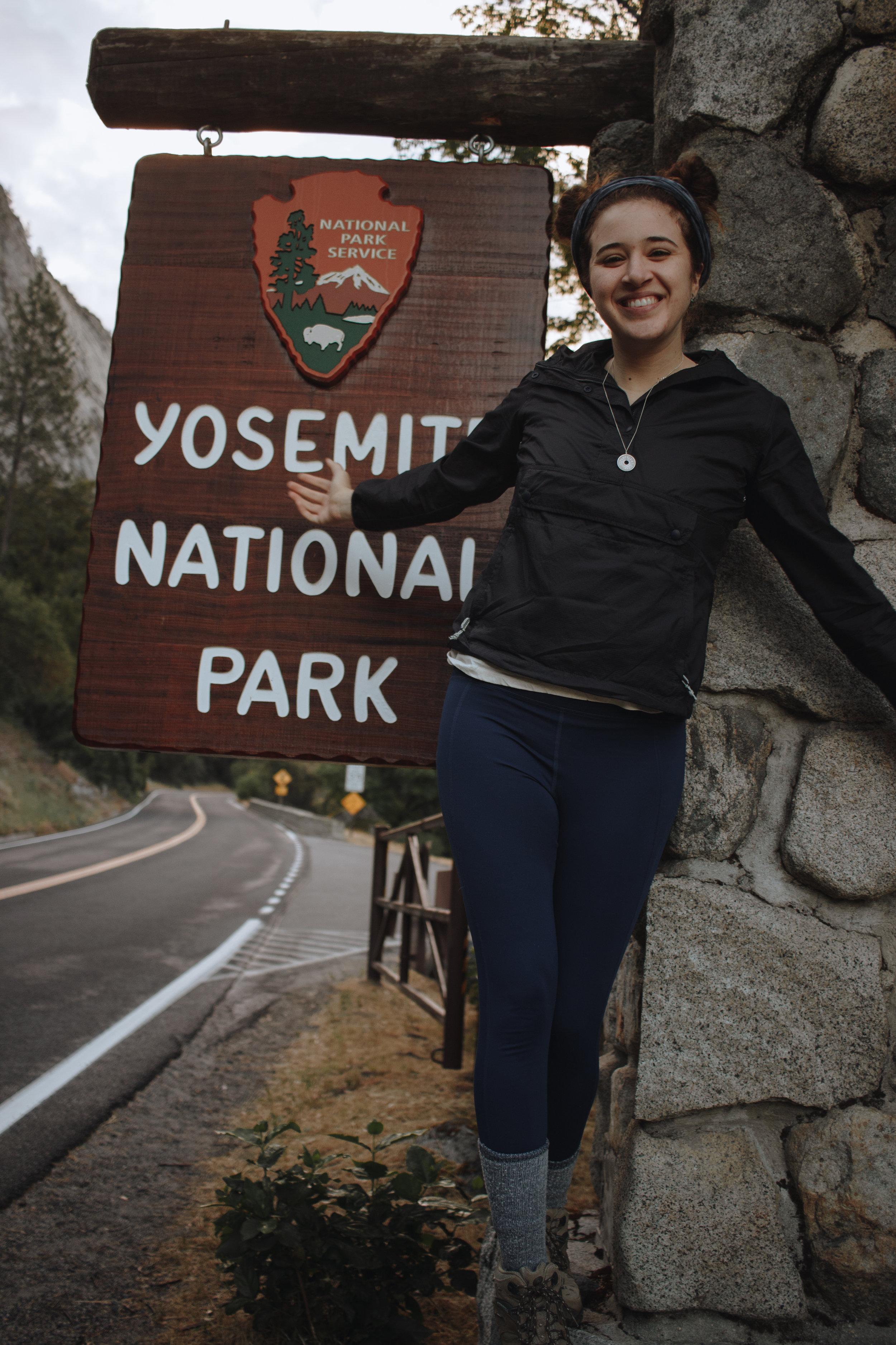 The entrance to Yosemite