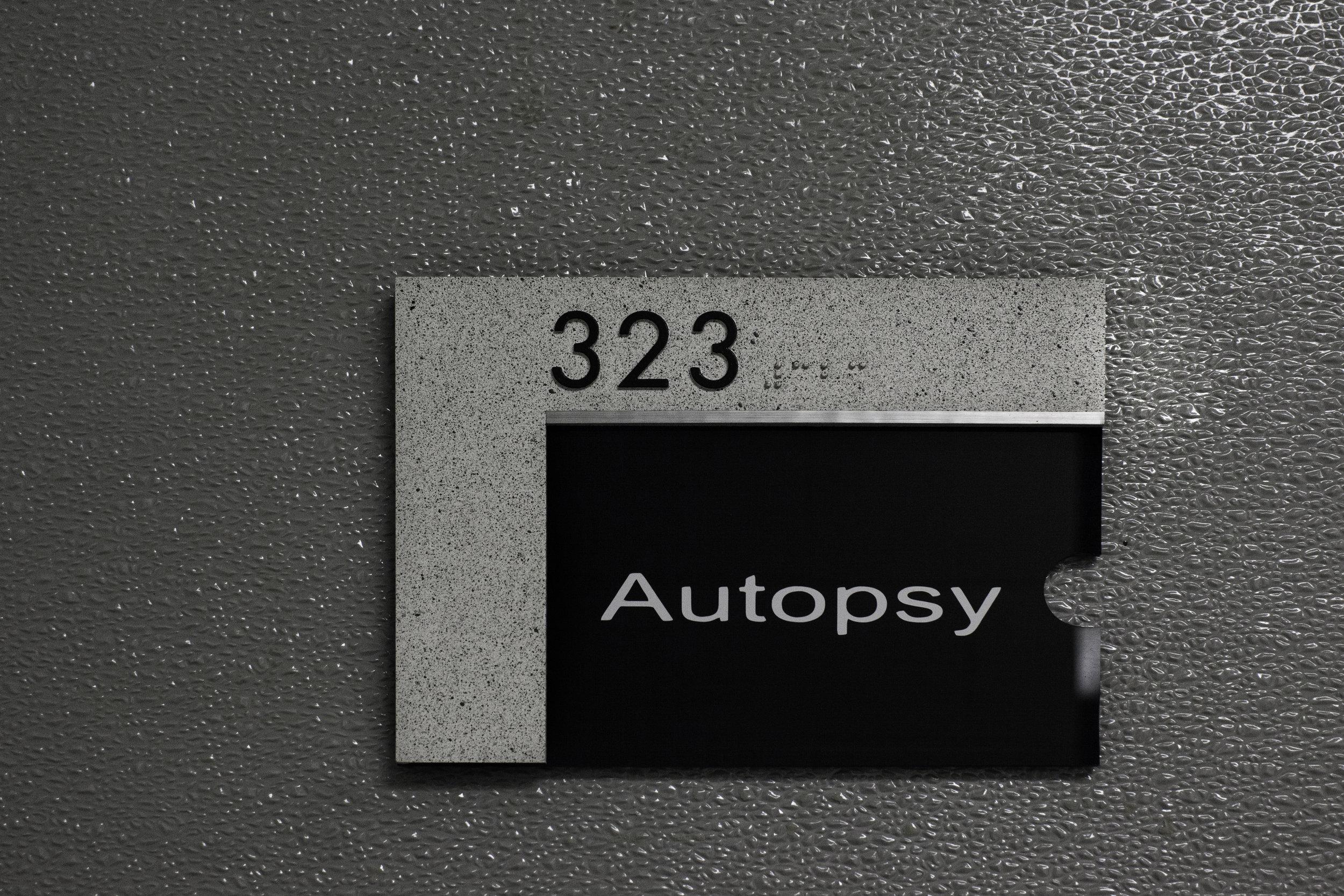 Autopsy Plaque
