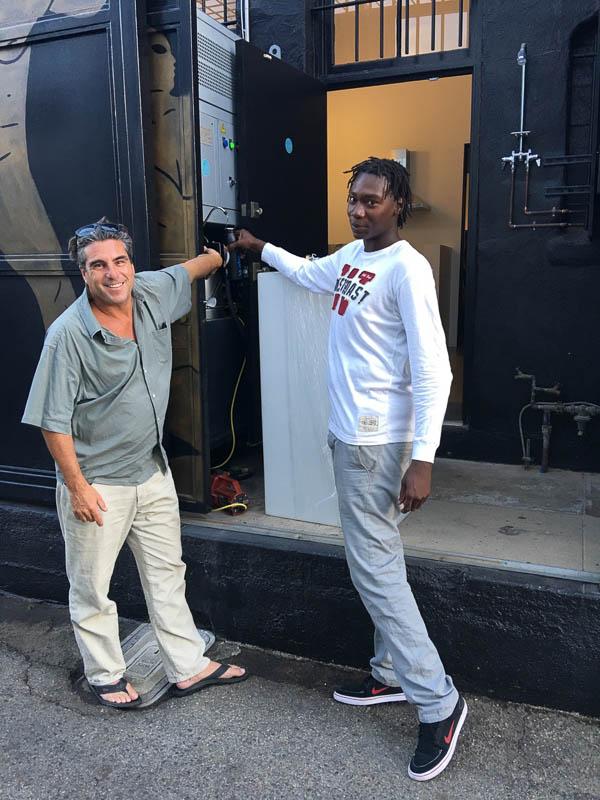 David Hertz with a fellow Venetian