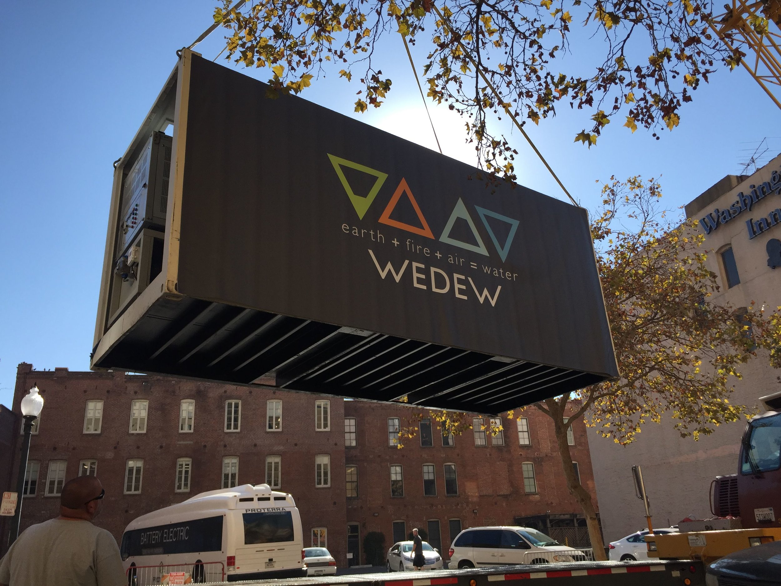 WEDEW landed at Verge18 in the San Francisco Bay Area, where it made water and charged the conference's microgrid.