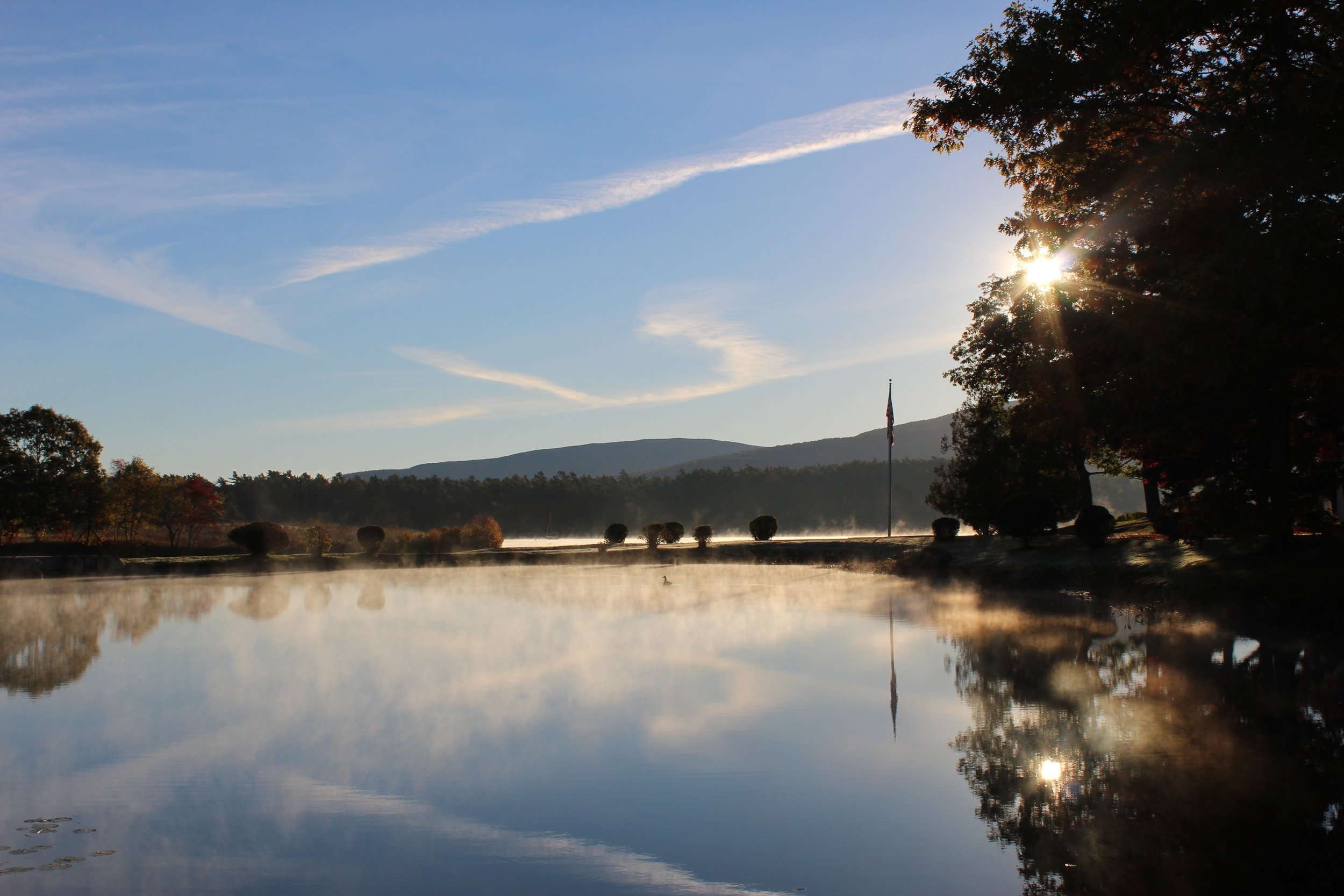 A beautiful scene that morning on our way back from the sunrise viewing. Maine was breathtaking!
