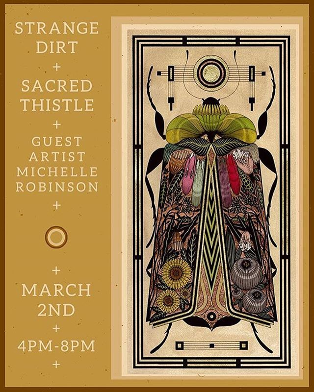 DENVER THIS FRIDAY catch a solo set by allison at the gorgeous @sacredthistle unveiling new works by goddesses @strangedirt and @mister_michelle ✨✨✨
