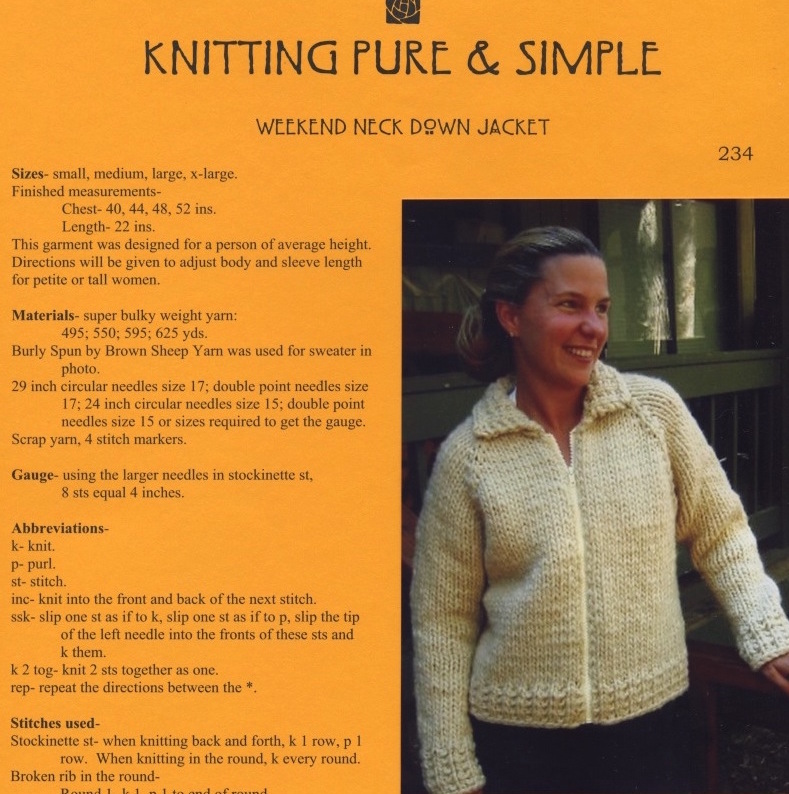 242 Knitting Pure /& Simple Beginner/'s Mid-Weight Socks Pattern No