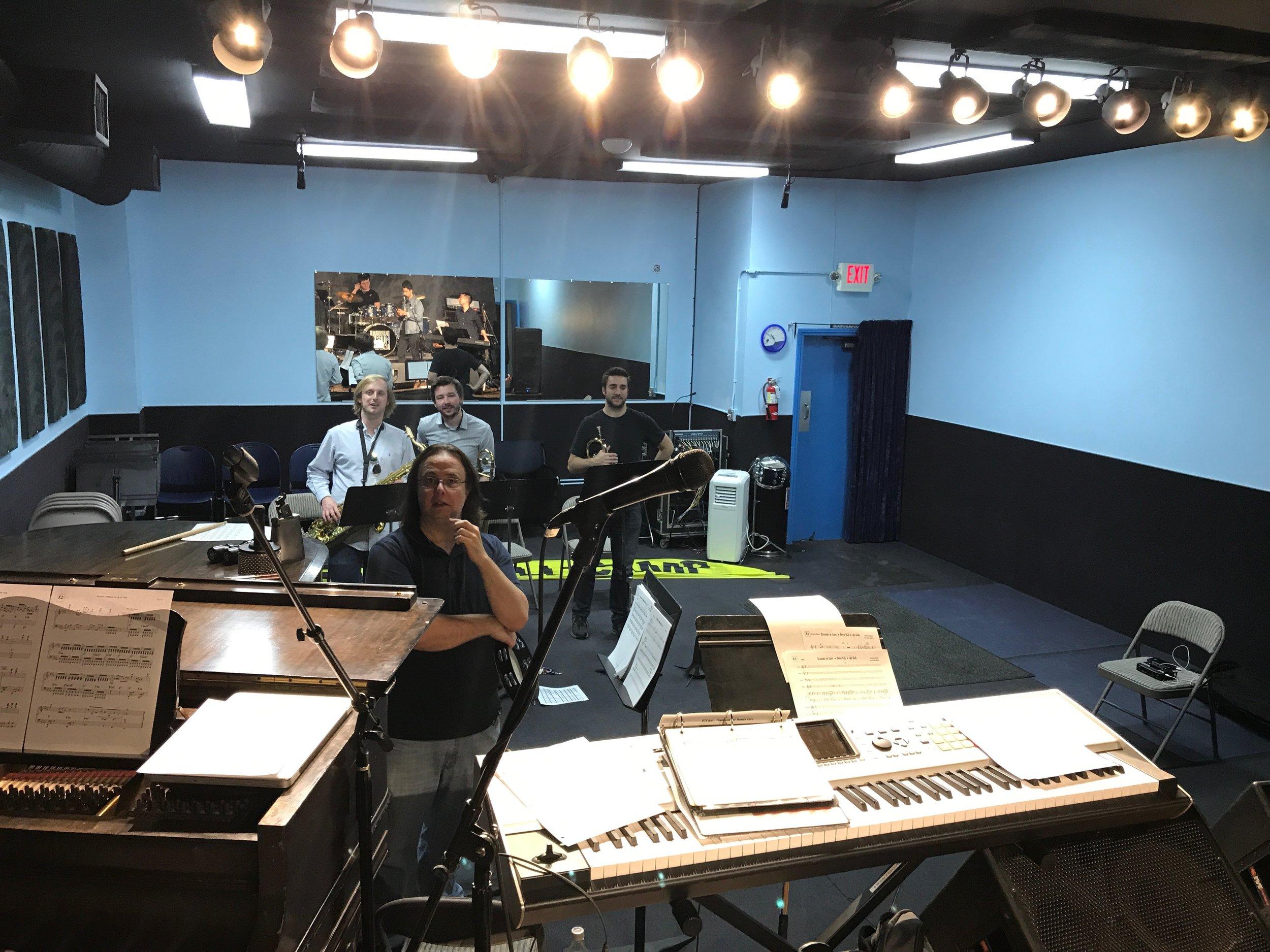 Early rehearsal at BMA