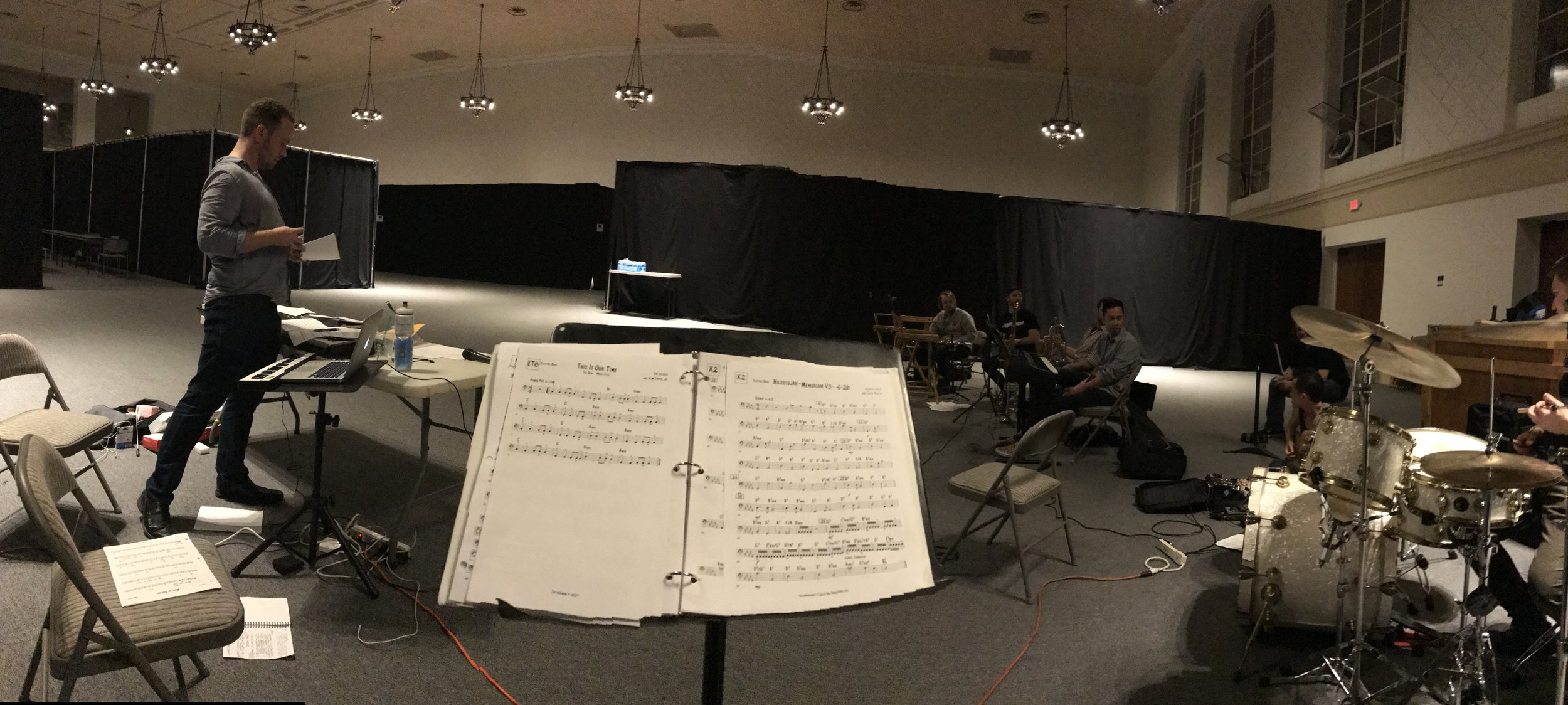 Caleb and the band during our final rehearsal before the Emmys