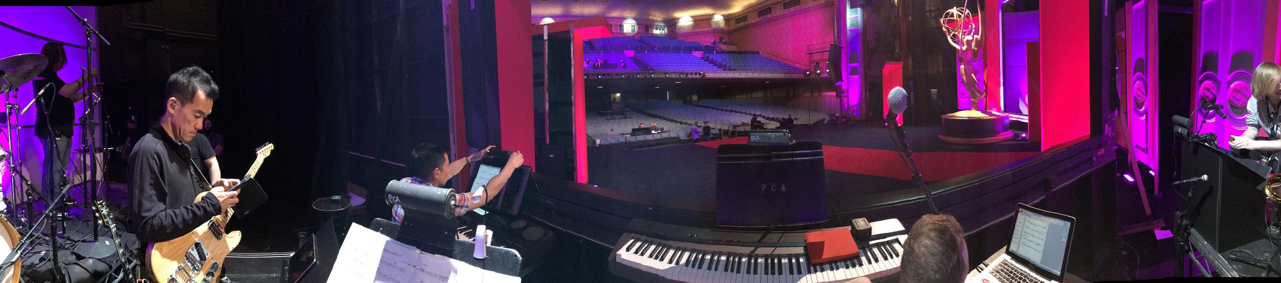 The view from my angle on the stage