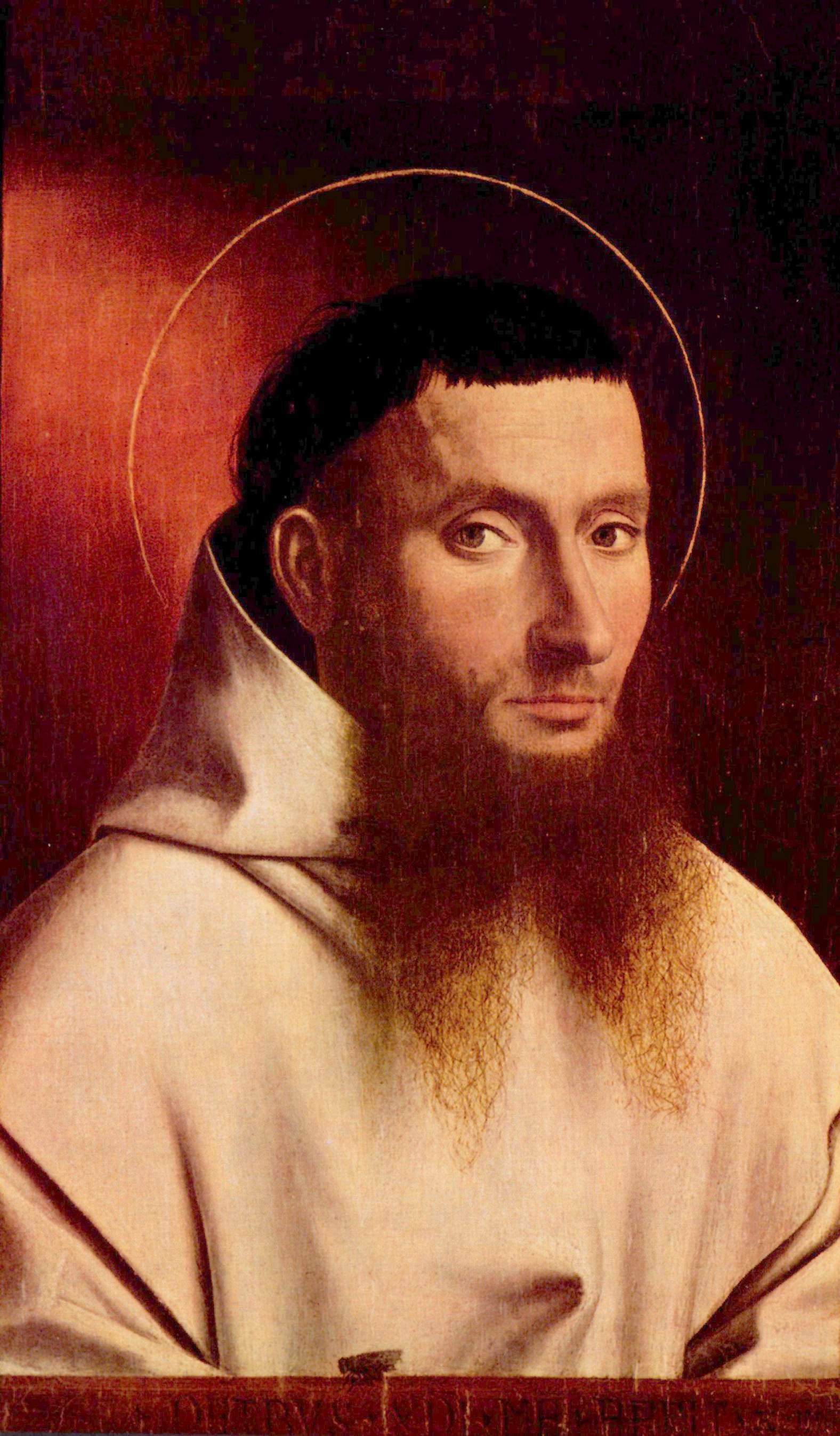 Portrait of a Carthusian by Petrus Christus