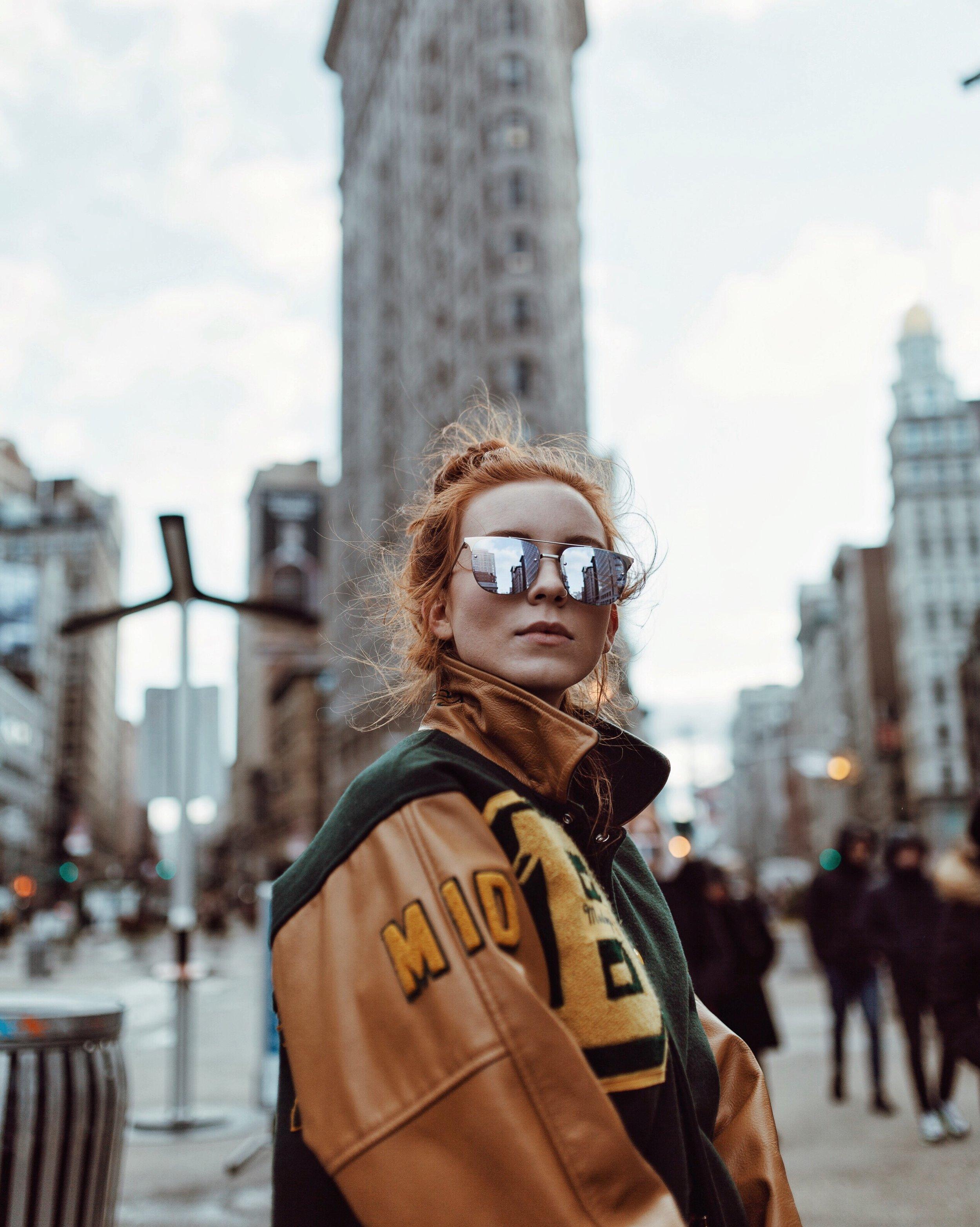 Quay Sunglasses  // Vintage Jacket