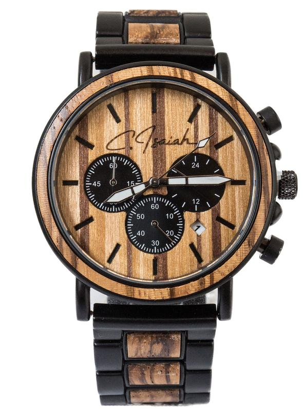 """4. """"The Carter"""" Wooden Watch - Nothing is as classic as the time piece. A nice watch is probably something you will find on our list yearly because a man can never have too many watches! We just love """"The Carter"""" wooden watch from Carter Isiah. The custom wooden craftsmanship of this brand makes is aesthetically pleasing and makes for a great statement piece. One of a kind in style, this one we're sure will get those """"where you get that watch from"""" questions. Carter Isiah also offers FREE SHIPPING on all US orders, and you know how much we LOVE free shipping!"""