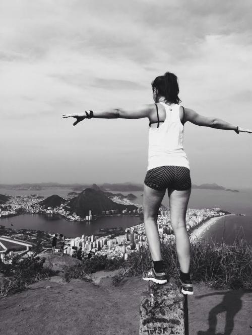 On top of favela Vidigal in Rio de Janiero, Brazil