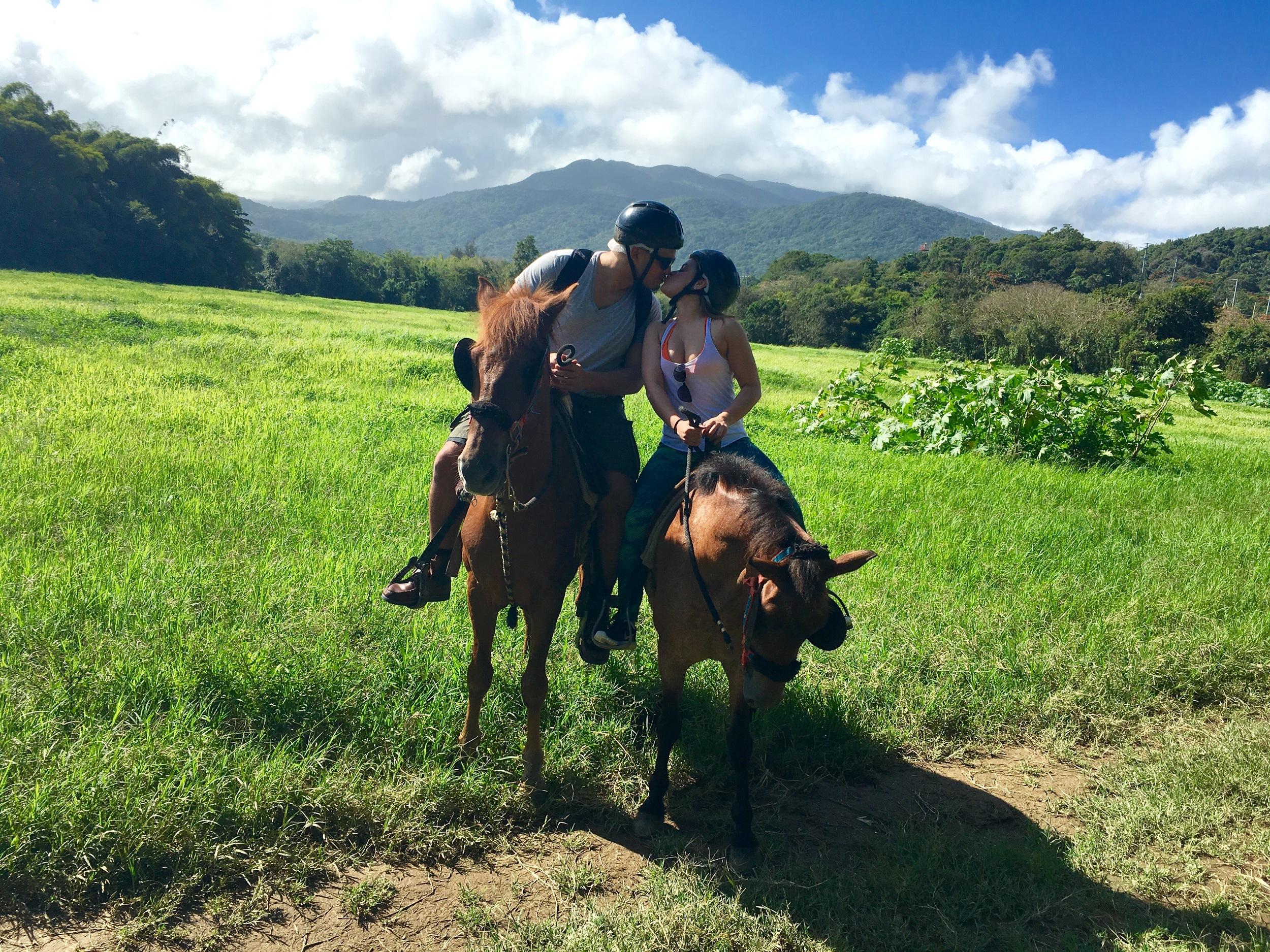 Horseback riding in Puerto Rico!