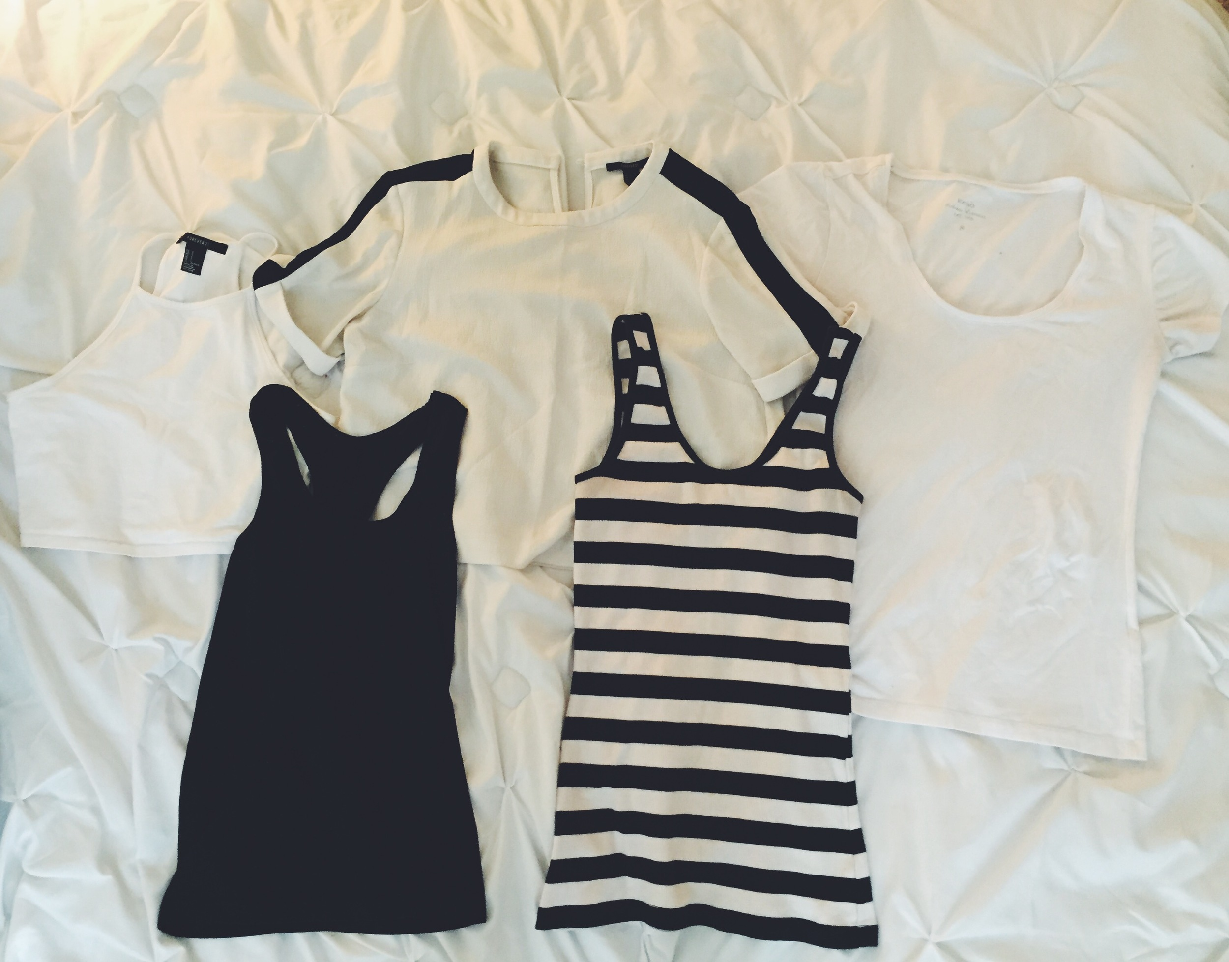 Summer Tops with Black & White Color Scheme