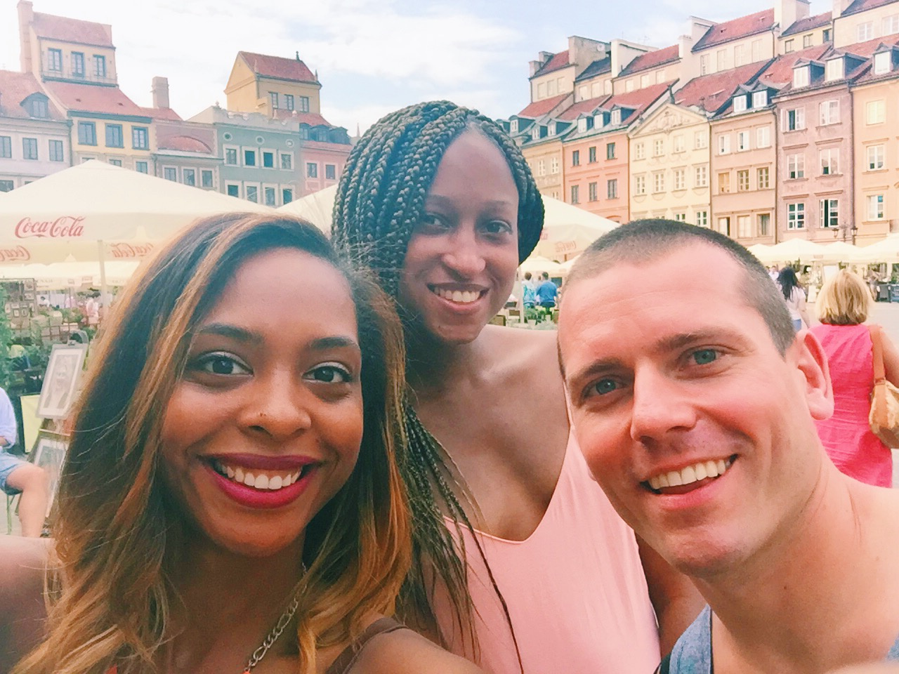Jewels + Jessica+ Jacek= J-unit! ( We listened to way too much 50 cent in the car). First J-Unit Selfie in Old Town Market Square in Warsaw!