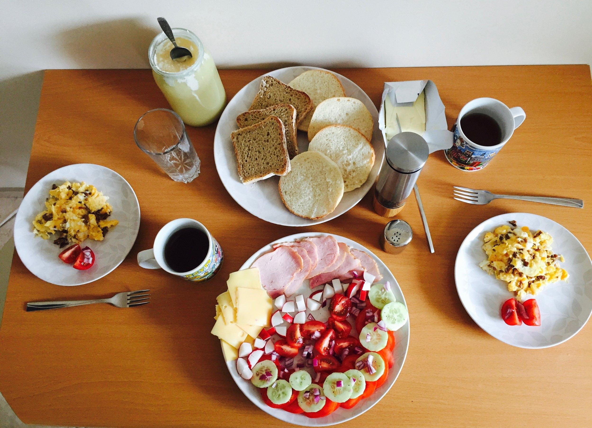 Yummy Polish Breakfast made by Chef Jacek!