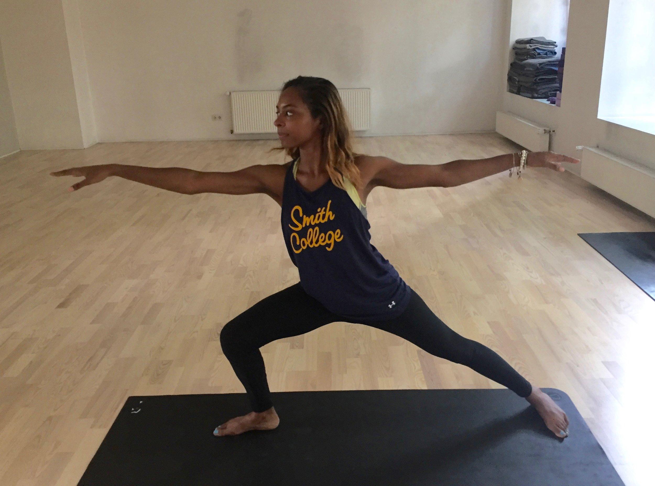 Practicing Yoga at Yoga Tribe Studio