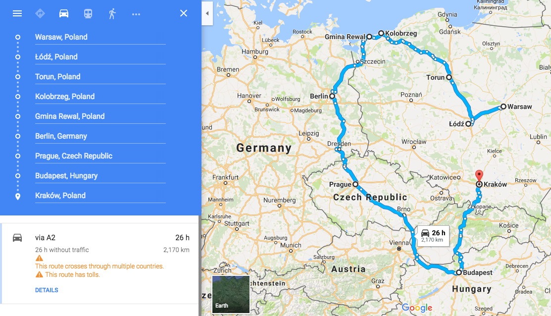 Overview of our Euro roadtrip!