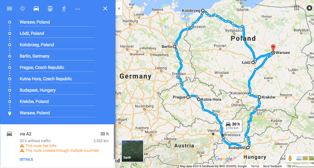 Overview of our road trip!