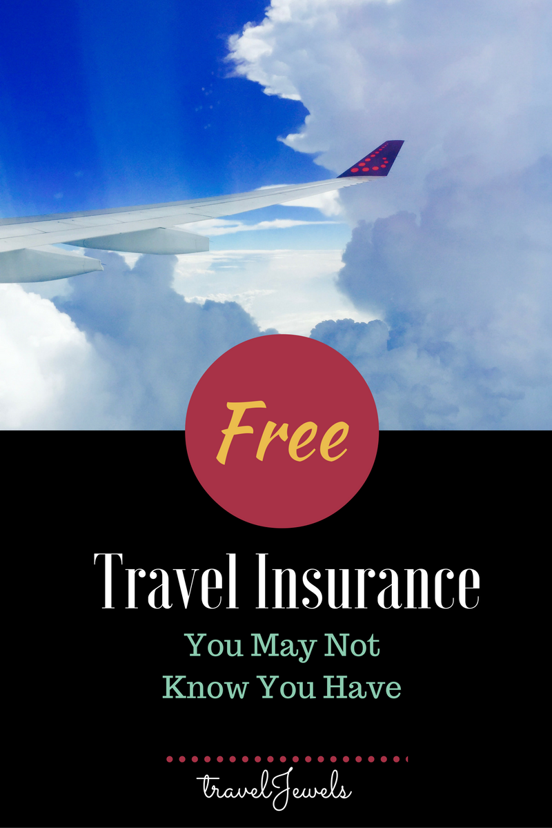 Free Travel Insurance You May Not Know You Have