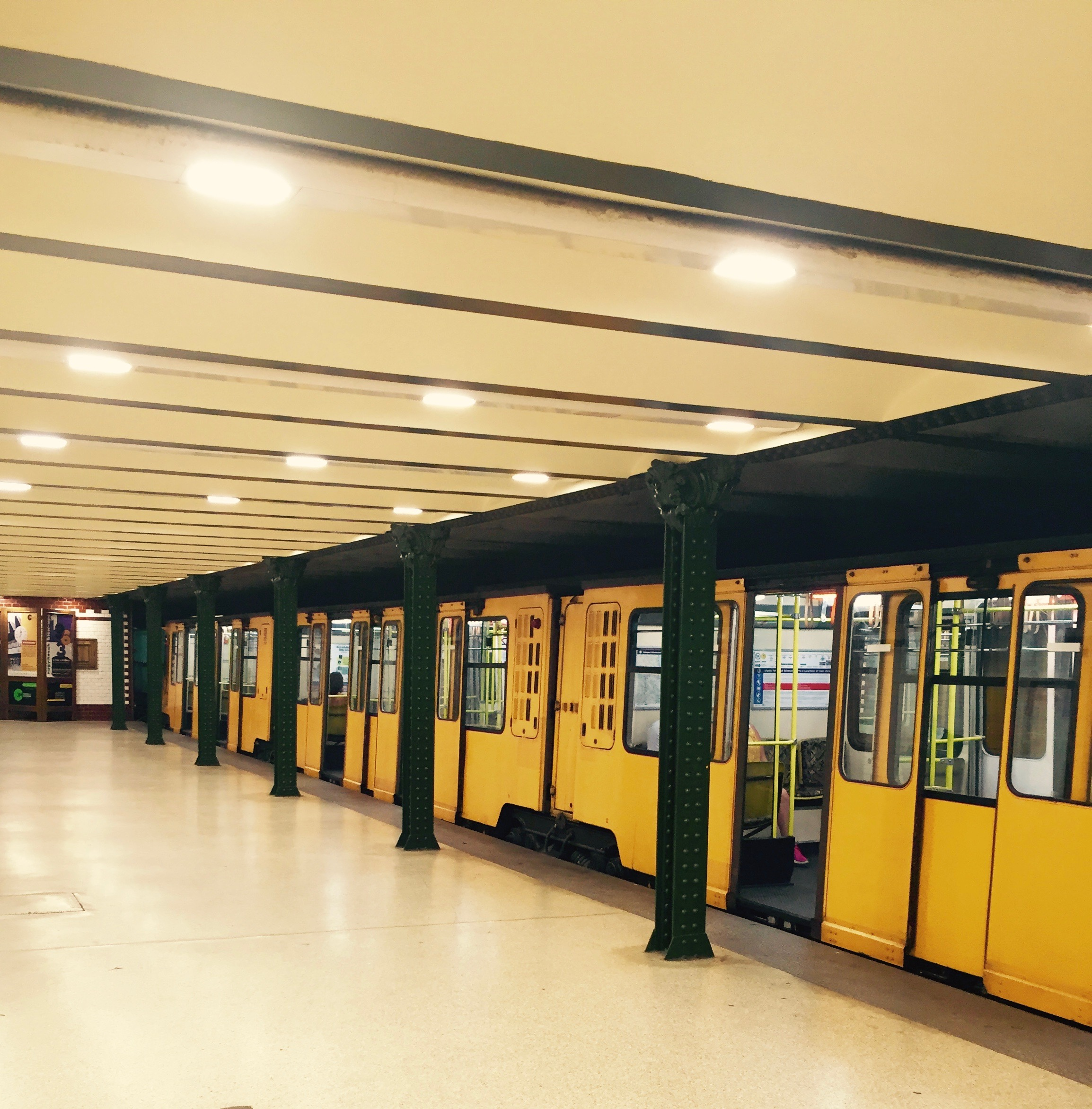 I loved riding the trains in Budapest!