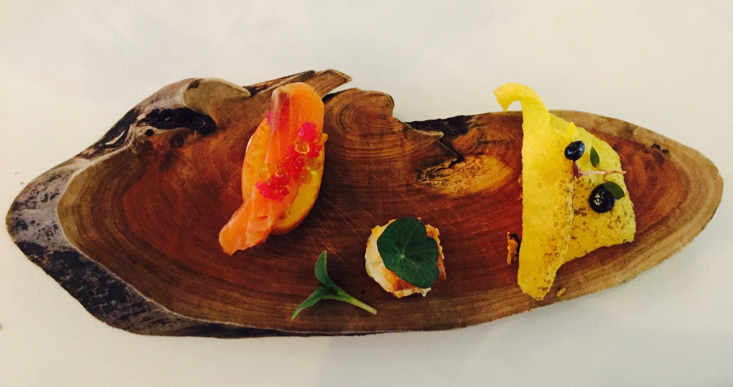 The meal presentation at Senses was truly art!