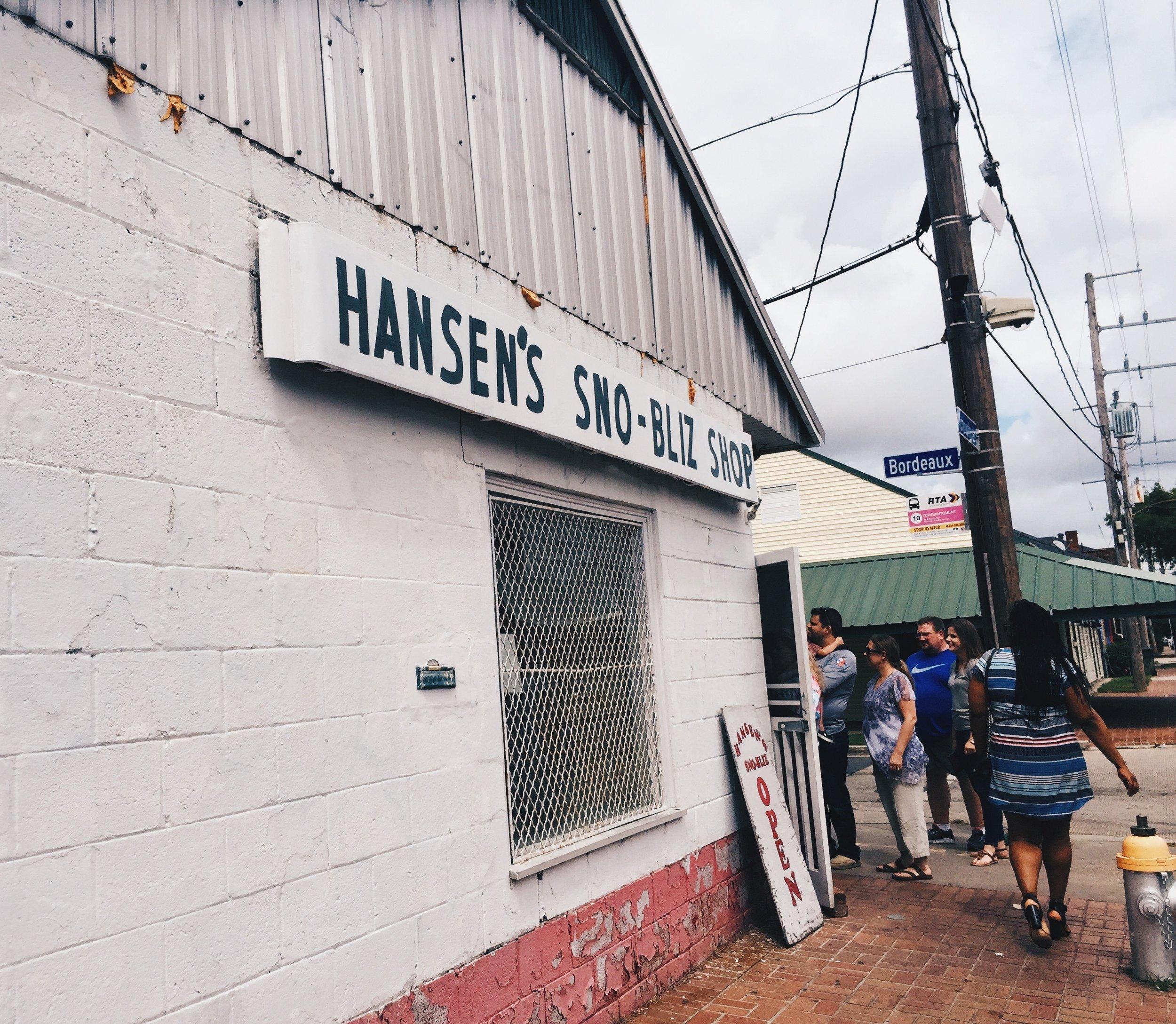 Hansen's Sno-Bliz Shop