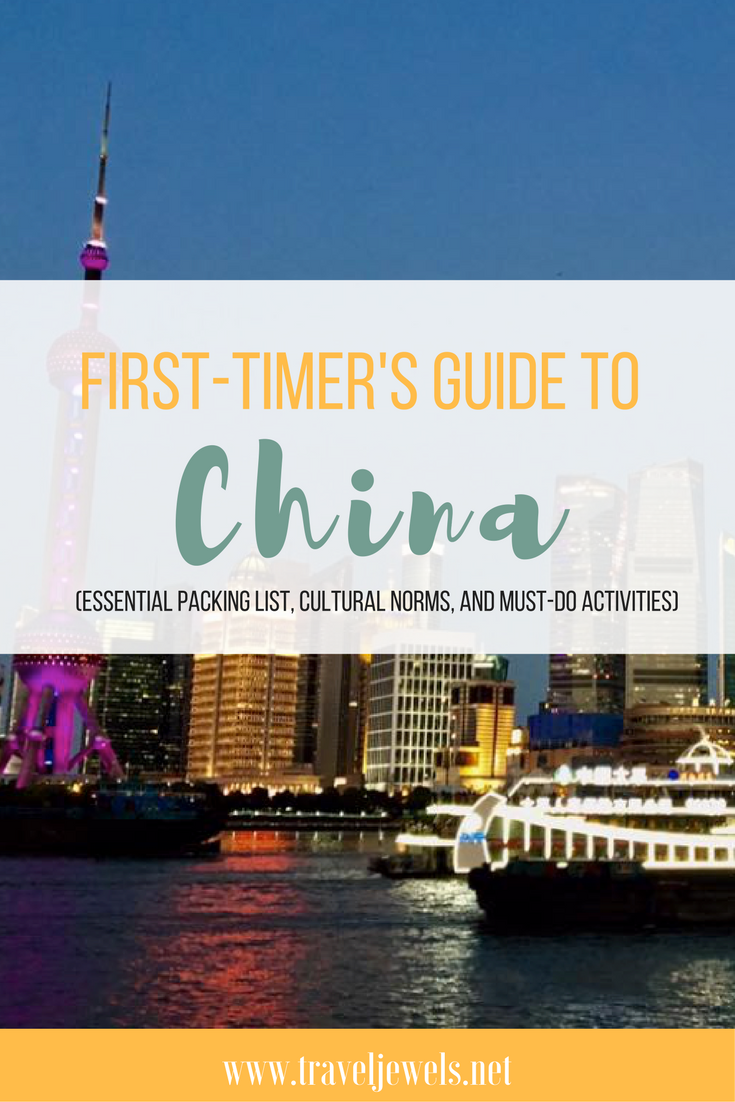 First Timer's Guide to China