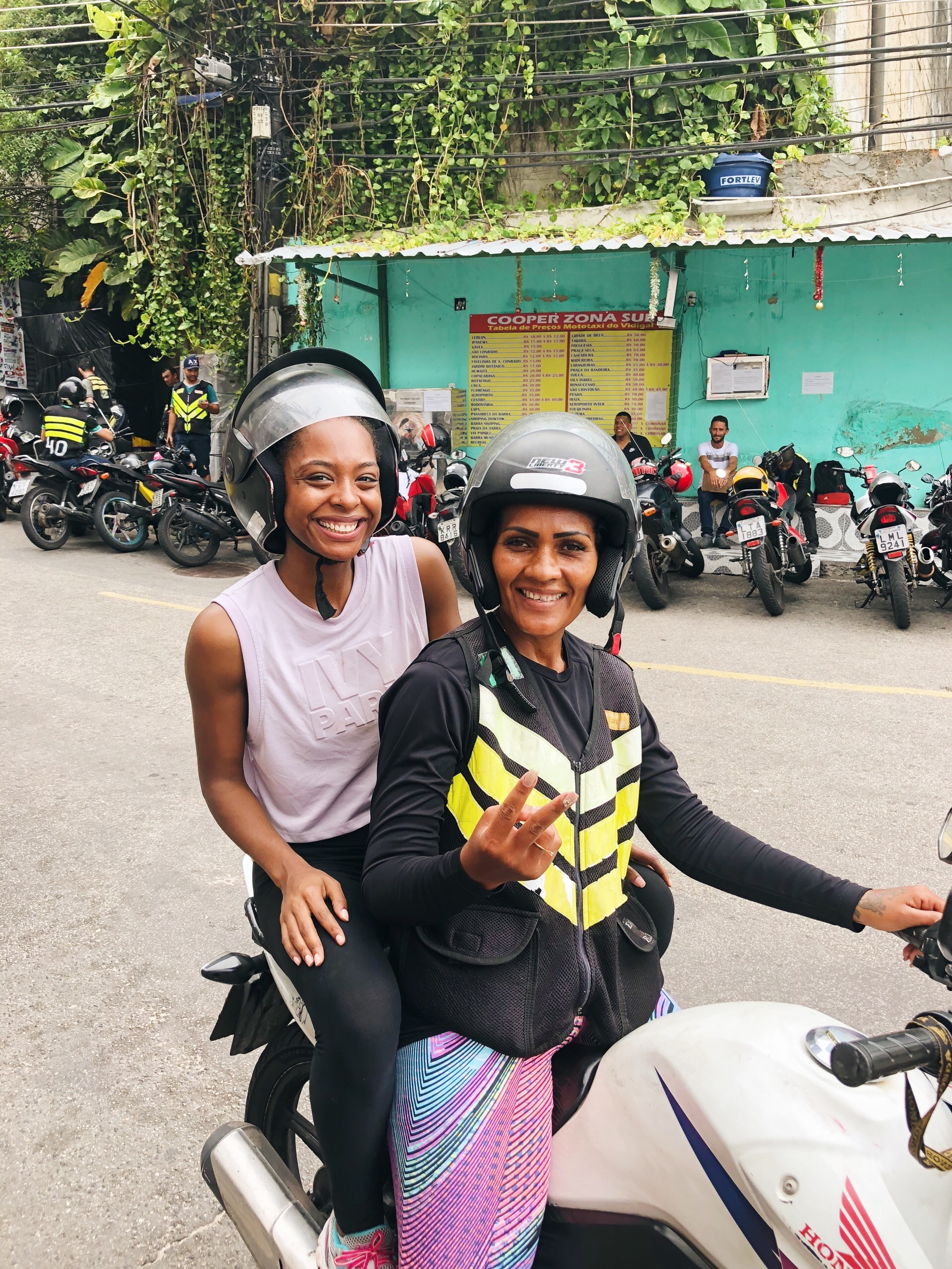Moto-taxi ride in Vidigal