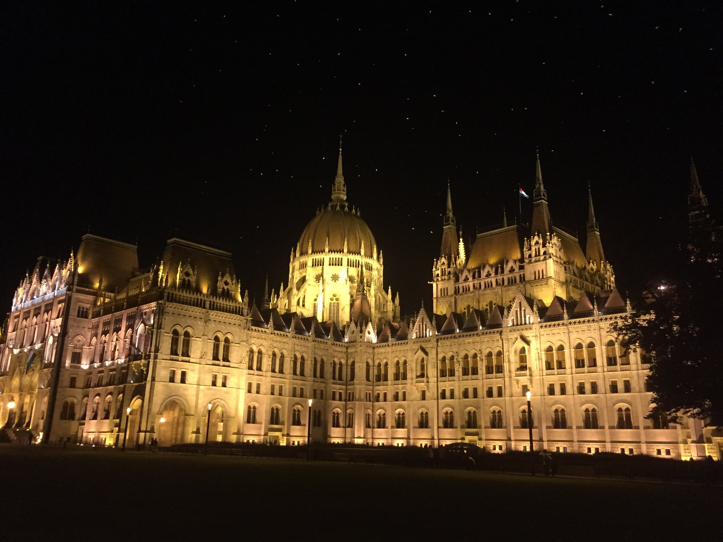 Nighttime Visit to the Budapest Parliament