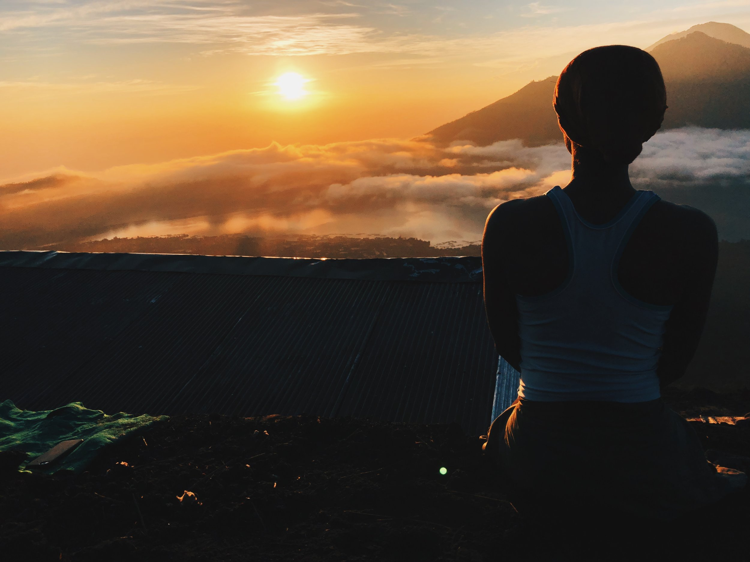 Sunrise hike up Mount Batur