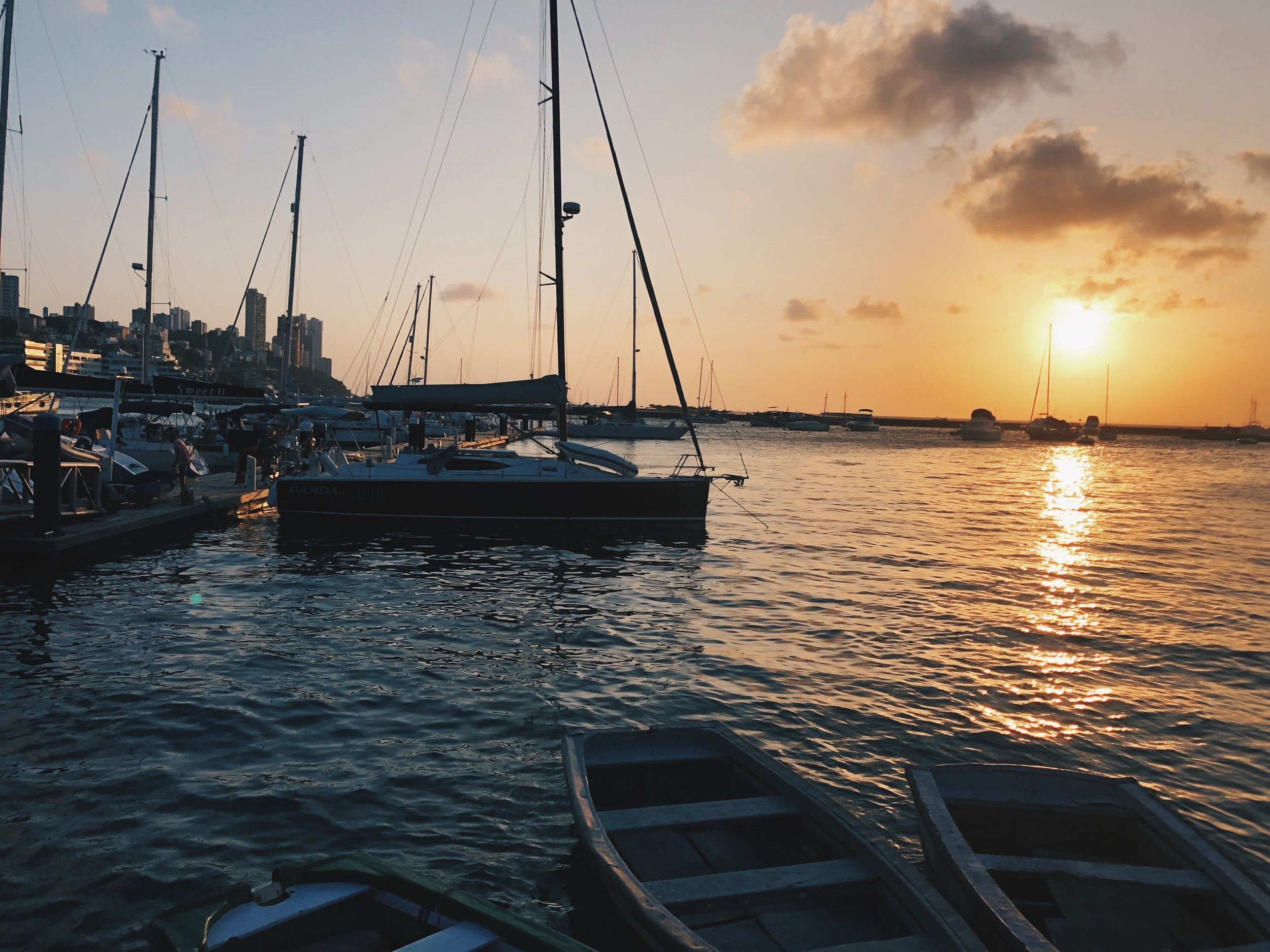 The sunset that welcomed us as we arrived in Salvador.