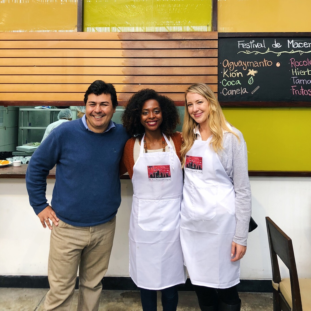 The two lovely co-owners of the Lima Gourmet Company and I.