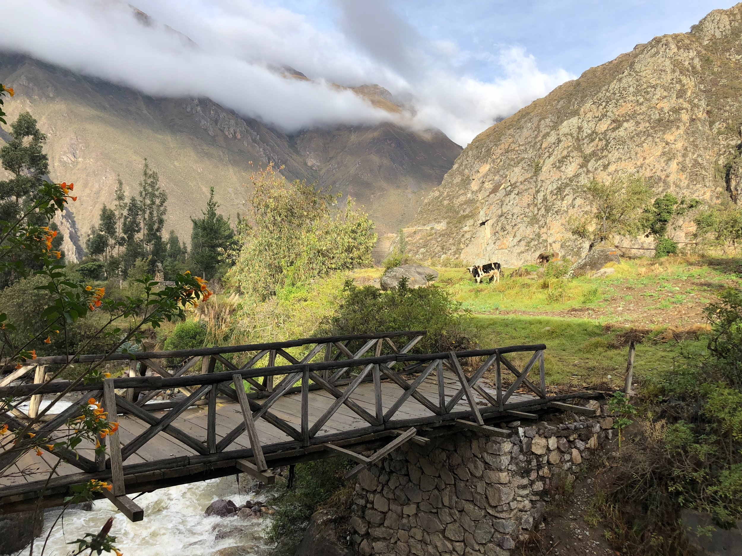 View from our hotel in Ollantaytambo.