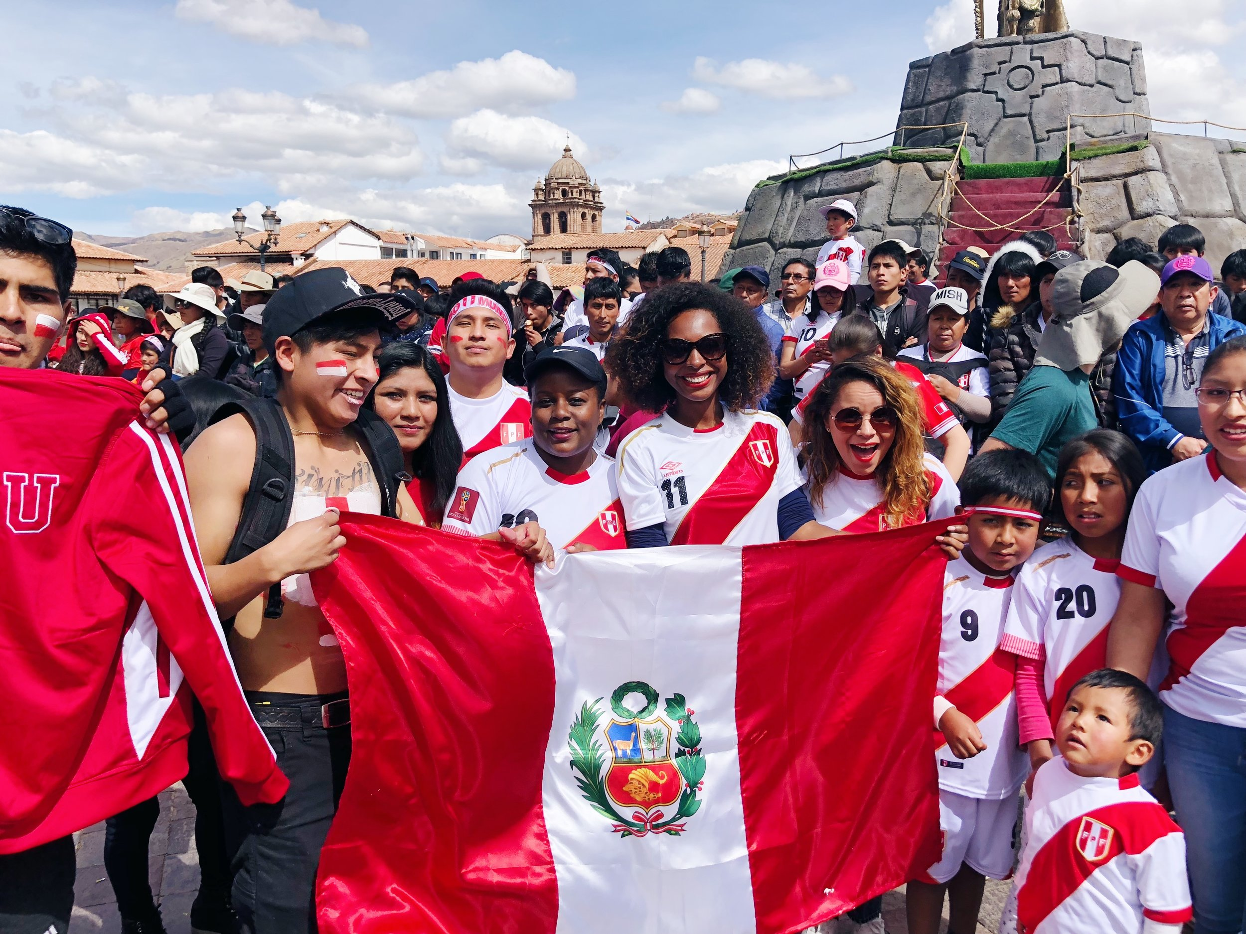 12 Top Travel Moments of 2018- Watching the Peru vs Denmark World Cup game
