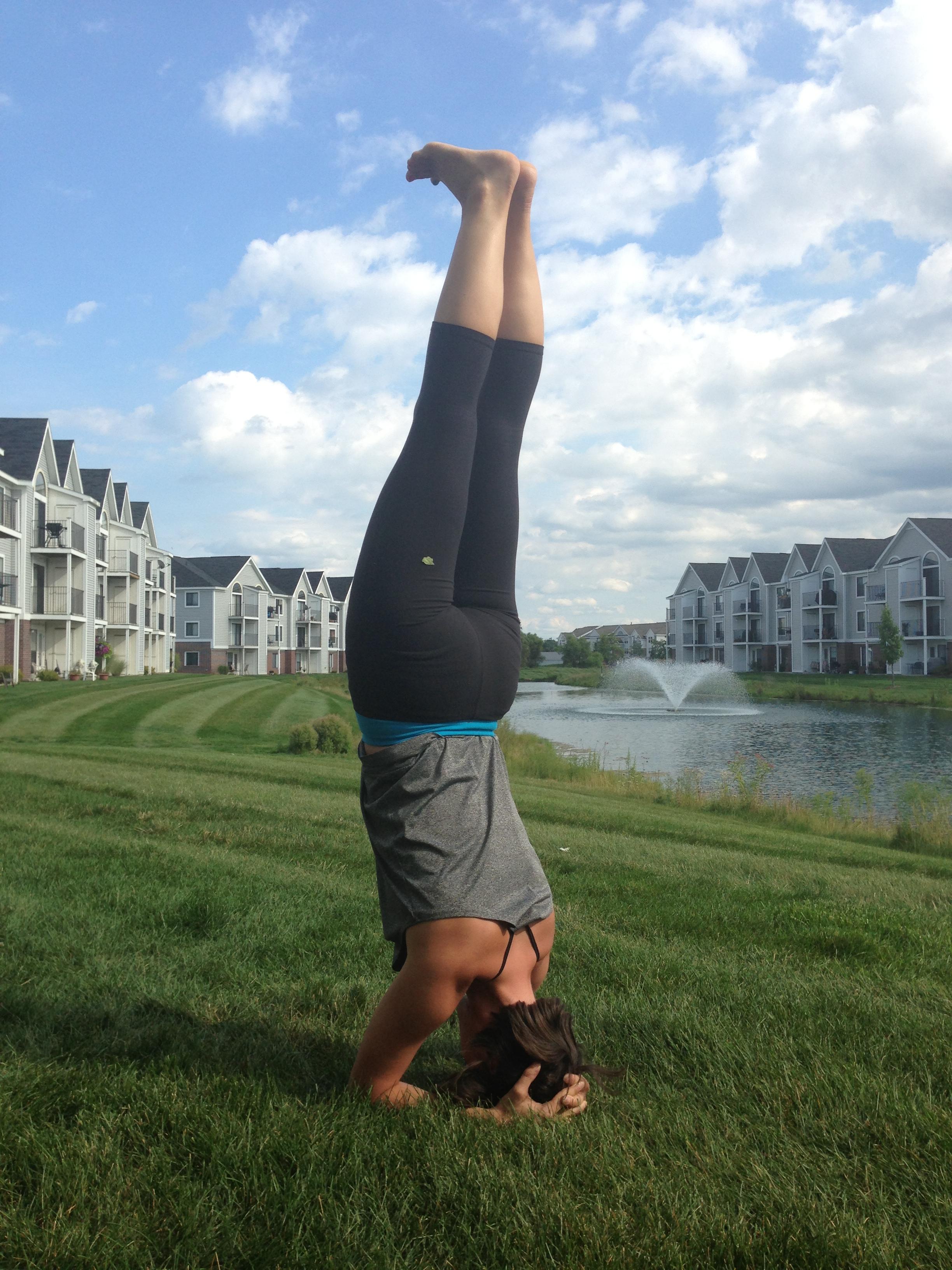 Summer of 2013, during my RYT200 Yoga teacher training
