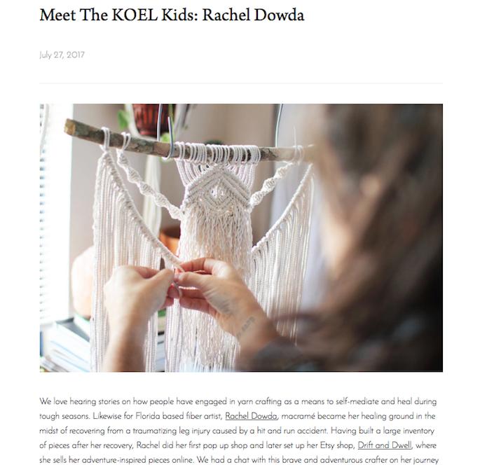Interview for Koel Magazine