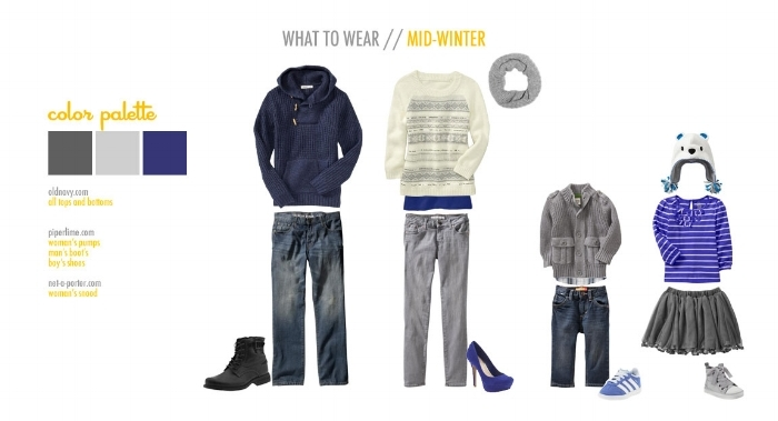 Free 'What to Wear' guides from  Inspire Me Baby