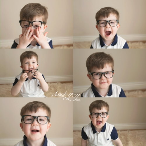 collage of a cheeky child