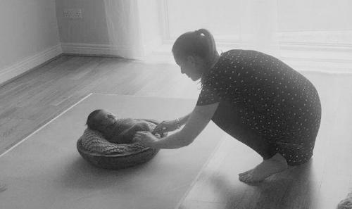 Dublin photography setting up for a newborn shoot