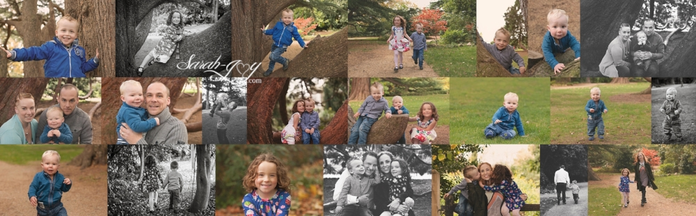 collage of cousin photos in a melbourne park