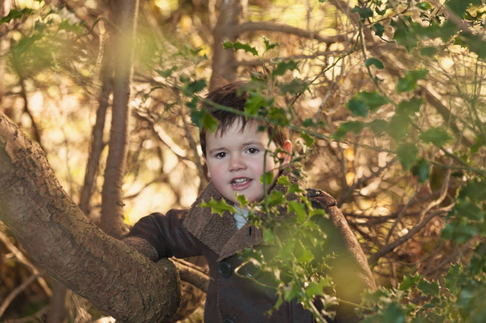 Boy in bushes in Melbourne photo shoot