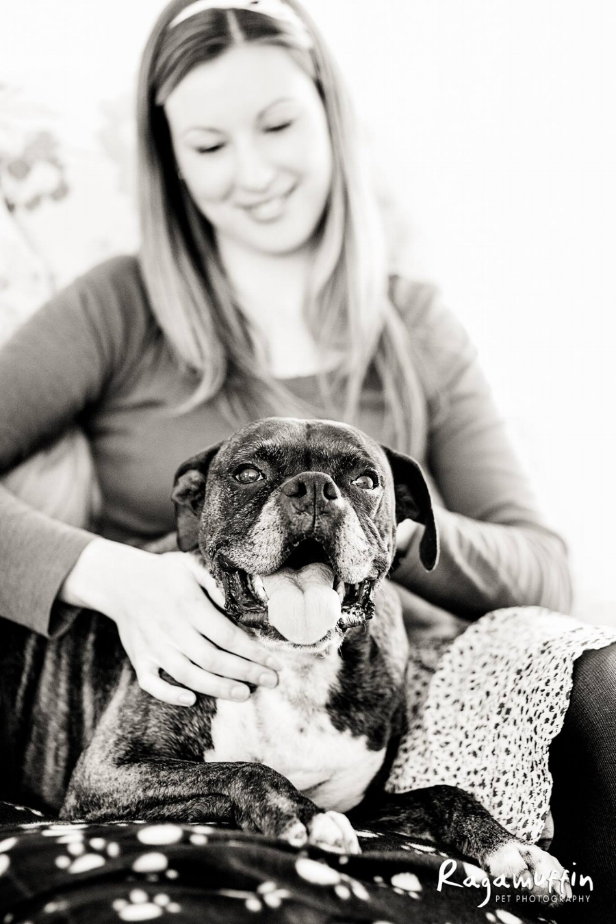 Sarah Willison and her Boxer Dog Chopper (Deceased)